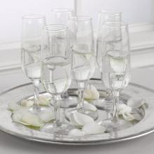 Champagne Flutes with Rose Petals