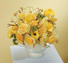 Beautiful Yellow Flower Table Top Urn.