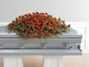 Red Carnation, Half Casket spray