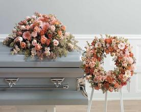 "Funeral Combo, "" special\"" 1/2 Casket Spray & Wreath  Spray,"