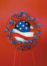Wreath red white and blue