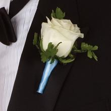 Boutonniere, White Rose