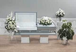 Funeral Combo, Peacefully White, now at Rest.