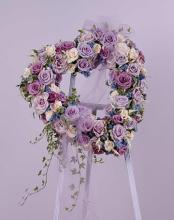 Heart Open, w/Purple & Cream Roses plus Ivy
