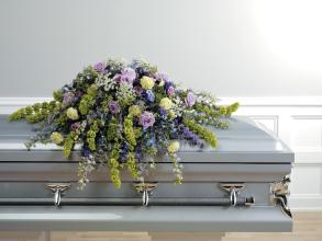 Shades of Purple Casket Cover