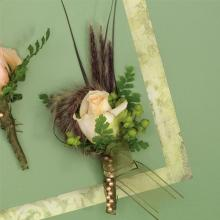 Corsage pin on
