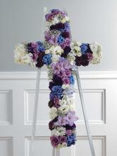 Cross, Purple & White w/size Options