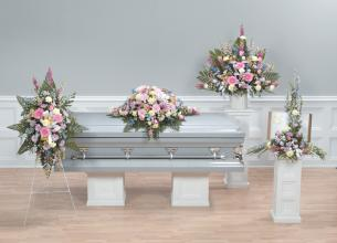 "Funeral Combo, 4 Pieces. ""Flowers We Love.\"""