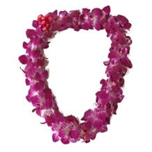 Double Purple Orchid Lei. Fresh Available!