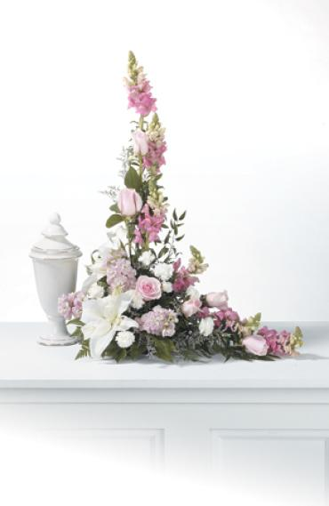 Infant Urn L Style Arrangement