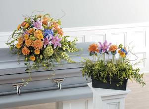 Funeral Combo, Casket or Flower Box