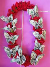 Carnation Butterfly Lei